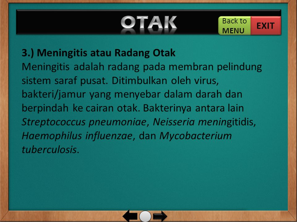 OTAK Back to. MENU. EXIT.