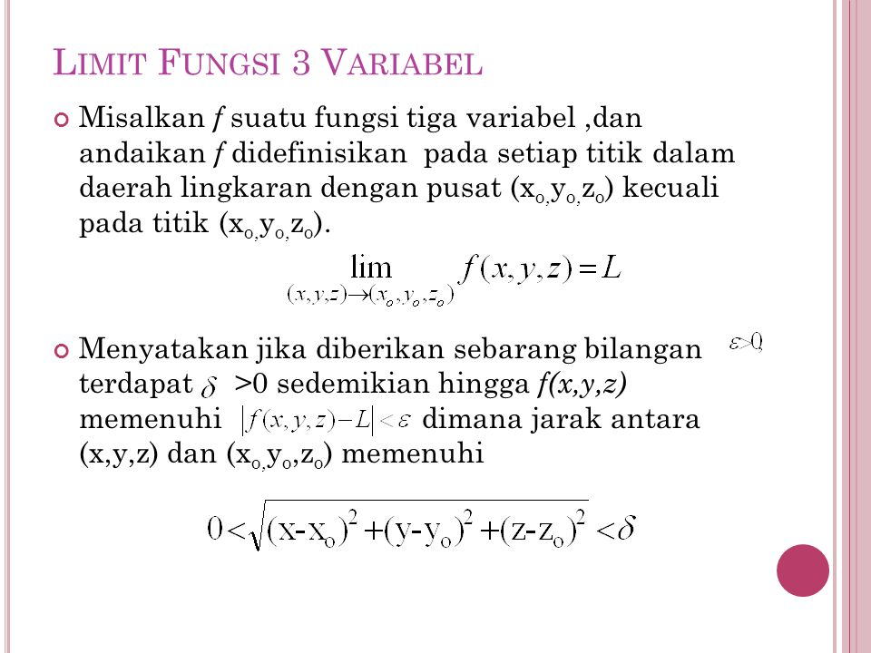 Limit Fungsi 3 Variabel