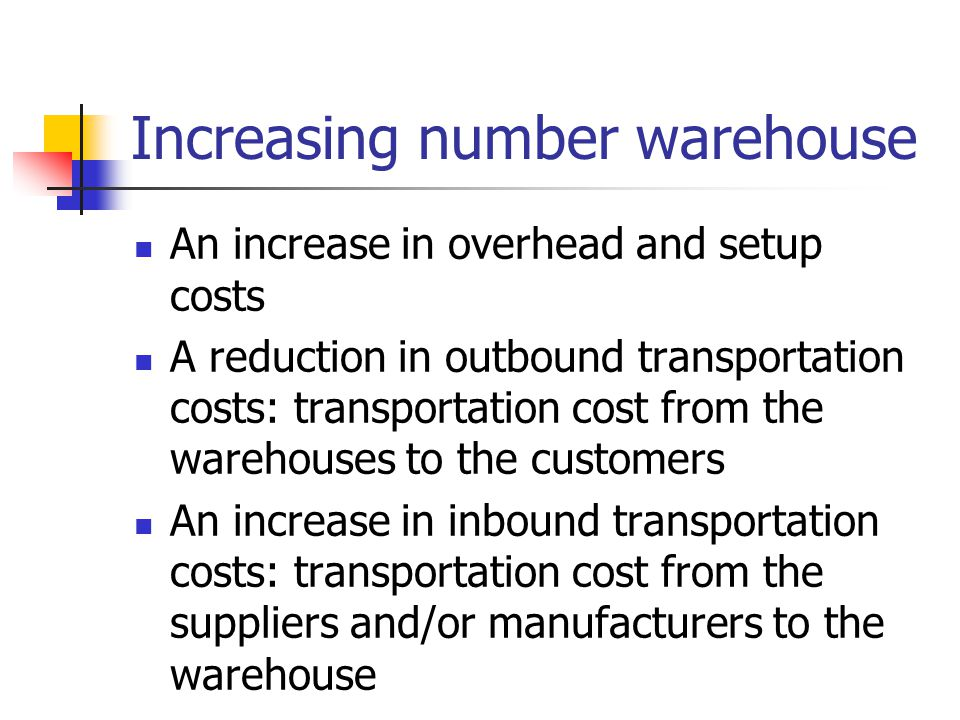 Increasing number warehouse