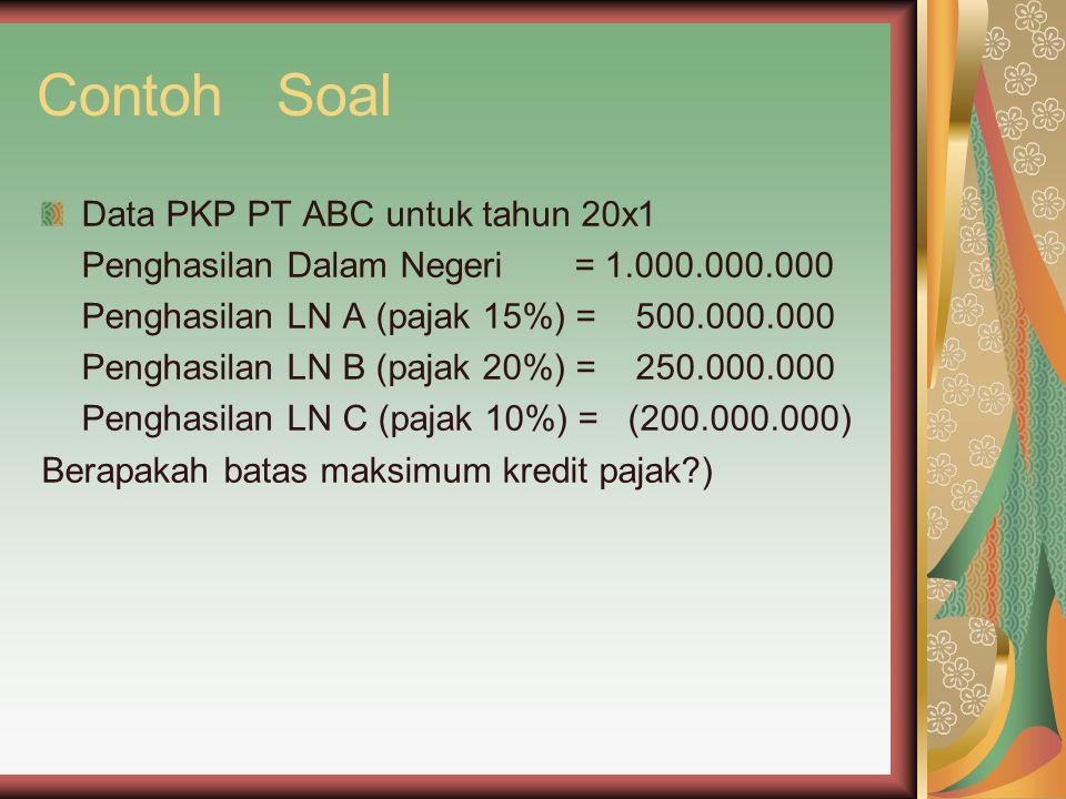 Contoh Soal Data PKP PT ABC untuk tahun 20x1