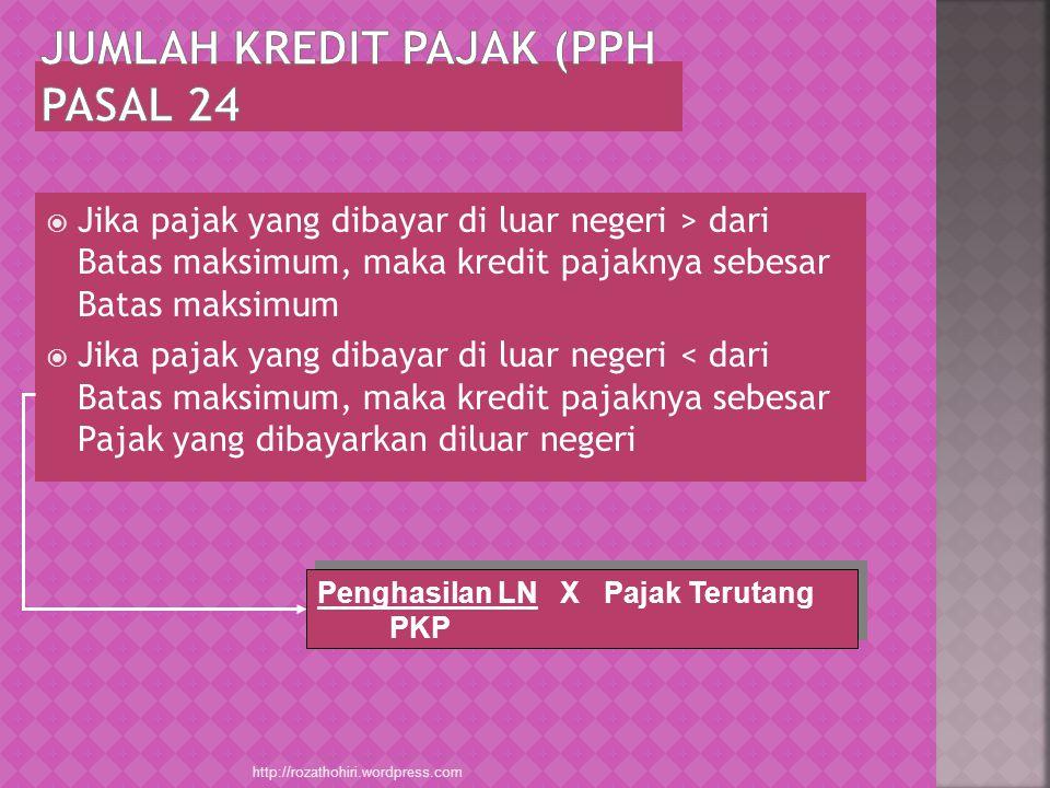 JUMLAH KREDIT PAJAK (pph pasal 24