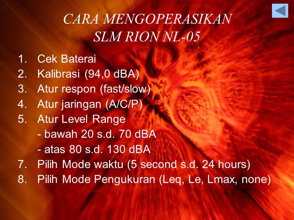 CARA MENGOPERASIKAN SLM RION NL-05