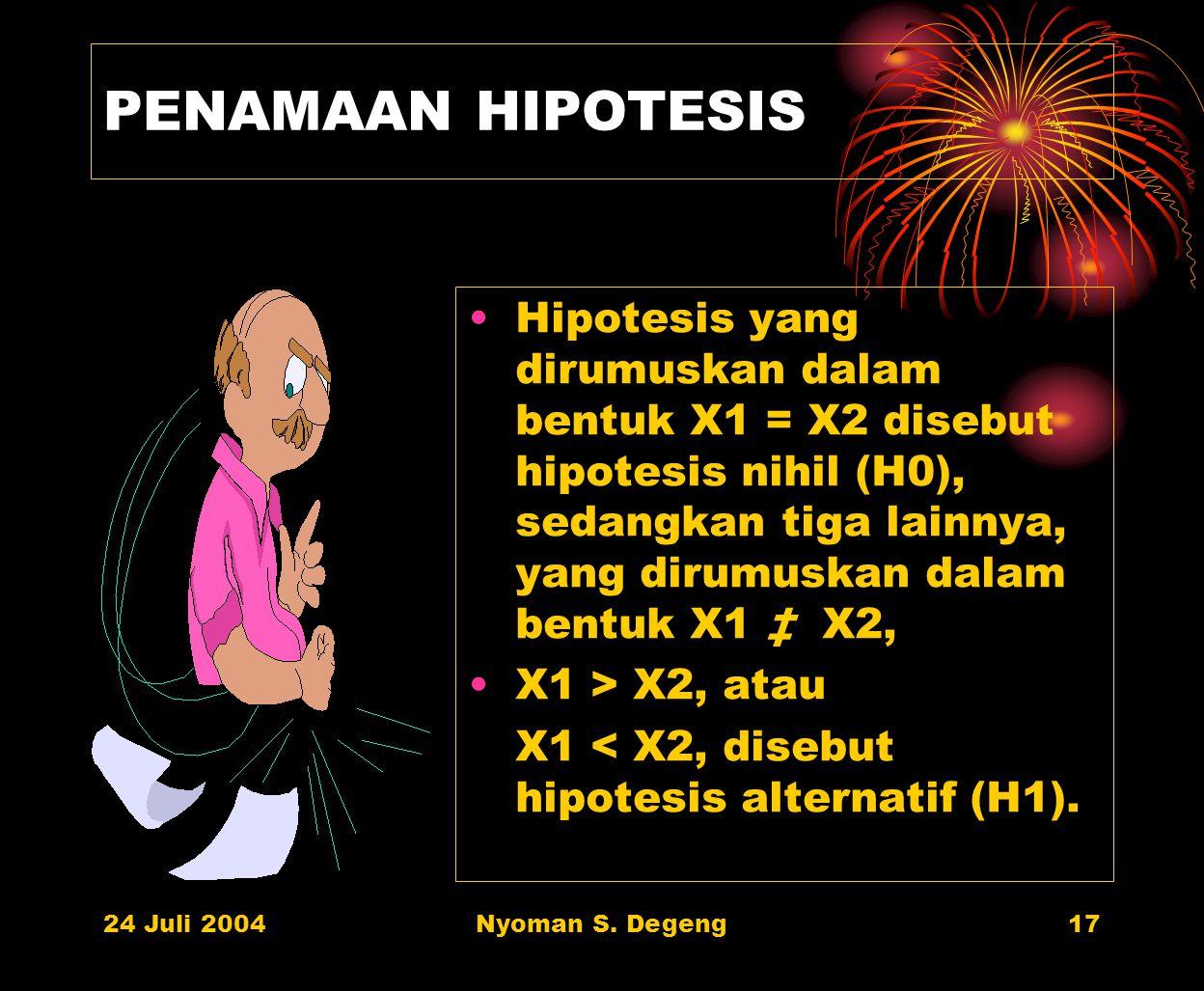 PENAMAAN HIPOTESIS