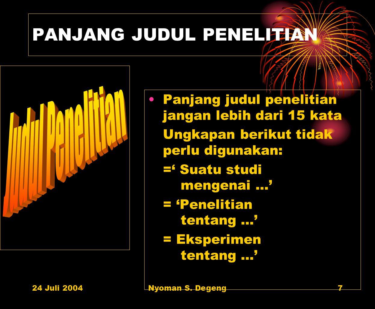 PANJANG JUDUL PENELITIAN