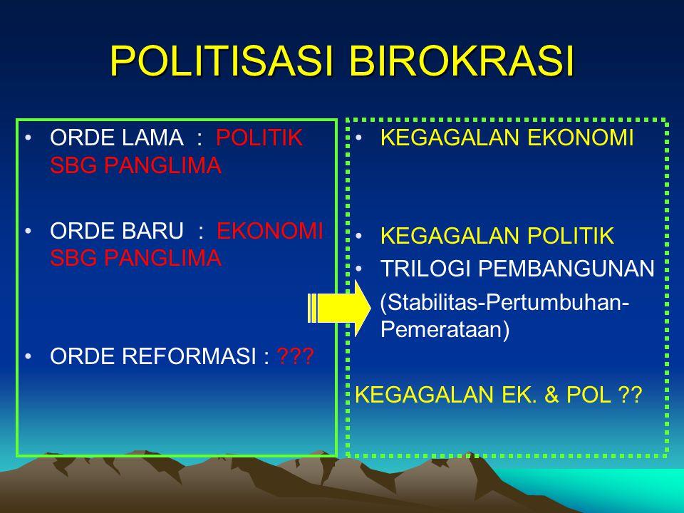 POLITISASI BIROKRASI ORDE LAMA : POLITIK SBG PANGLIMA