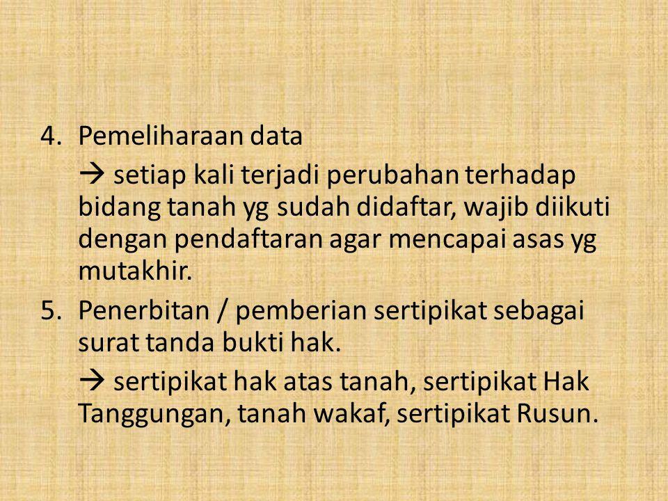 Pemeliharaan data