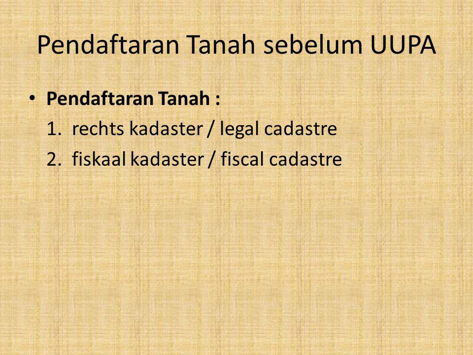 Pendaftaran Tanah sebelum UUPA