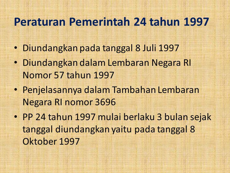 Peraturan Pemerintah 24 tahun 1997