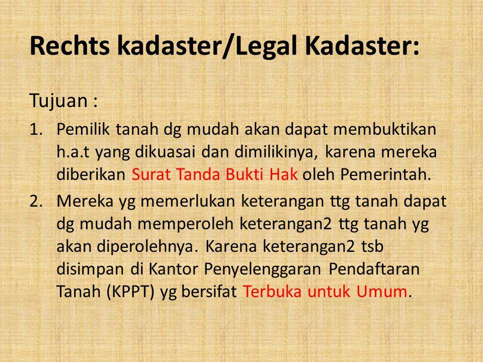 Rechts kadaster/Legal Kadaster: