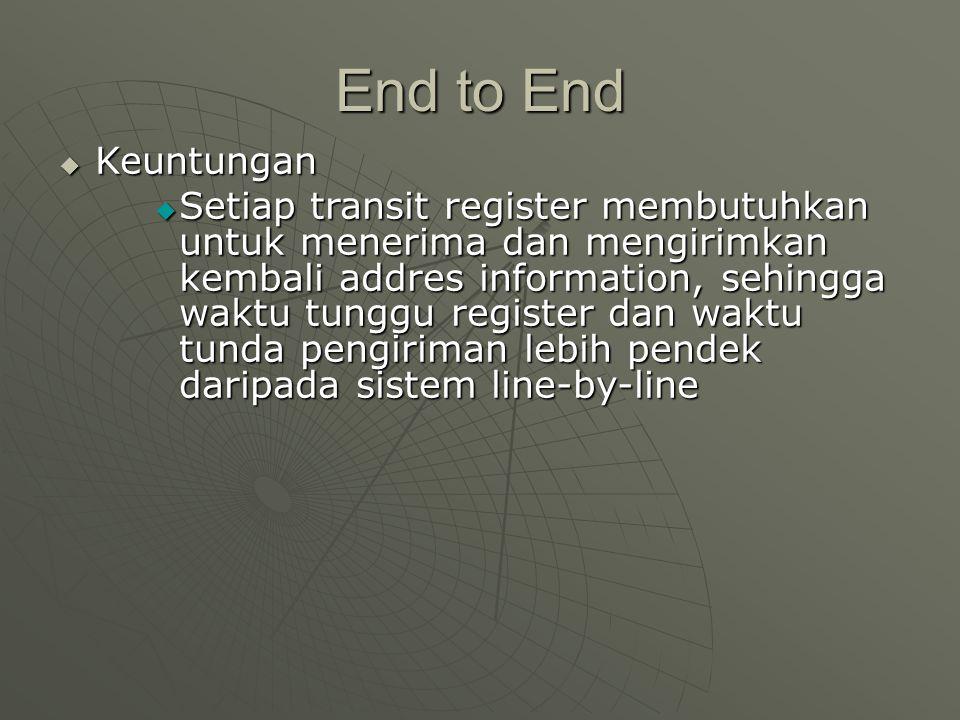 End to End Keuntungan.