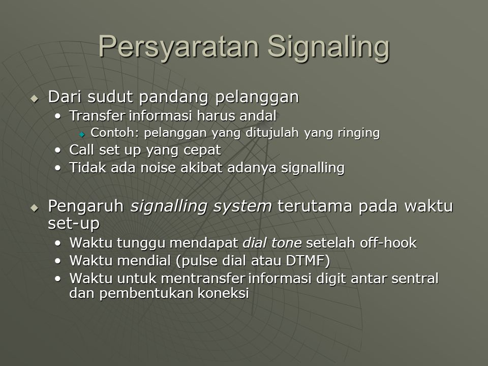 Persyaratan Signaling