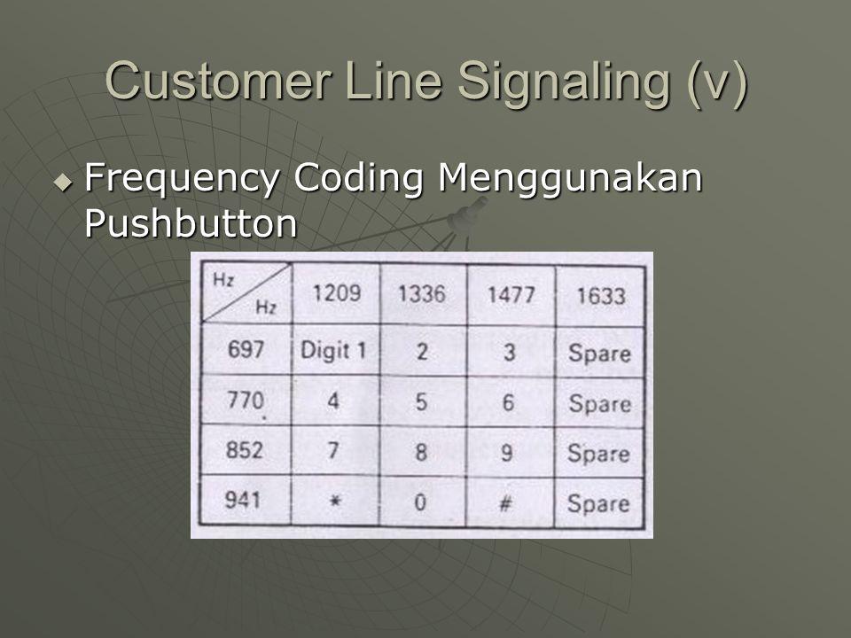Customer Line Signaling (v)