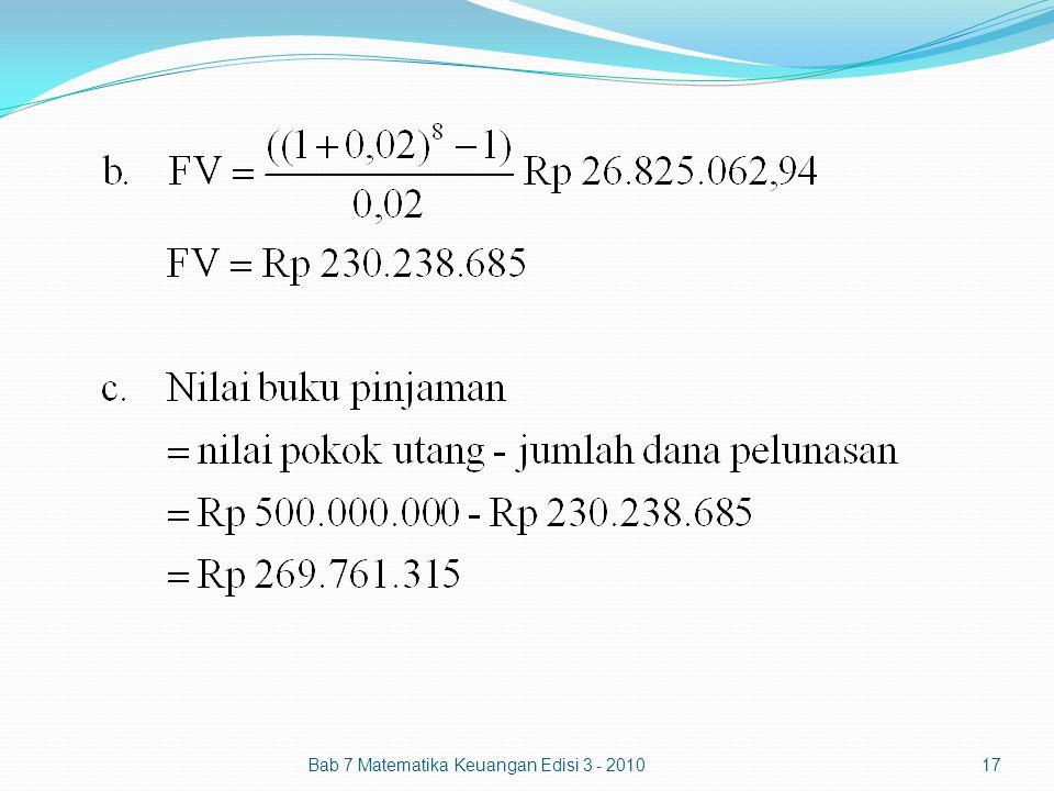 Bab 7 Matematika Keuangan Edisi 3 - 2010