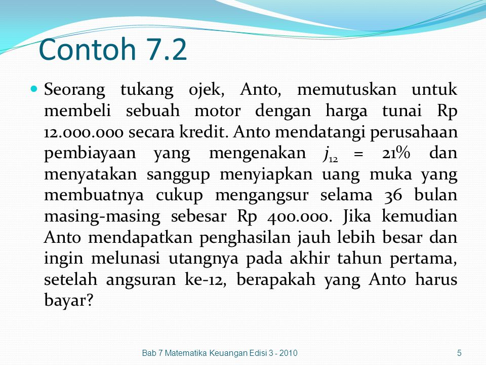 Contoh 7.2