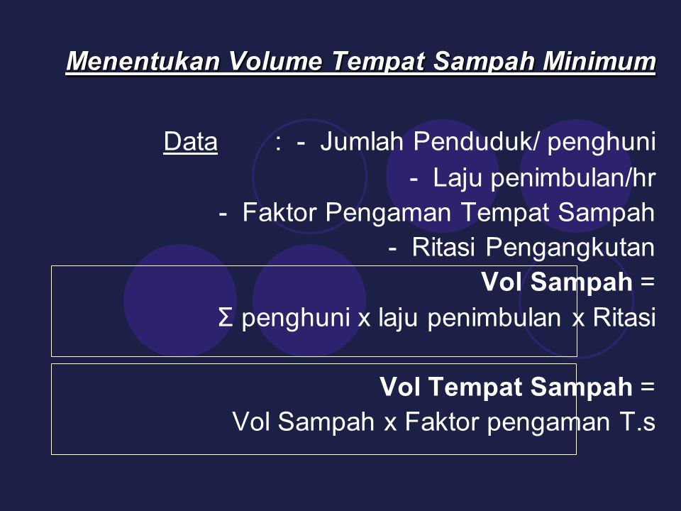 Menentukan Volume Tempat Sampah Minimum