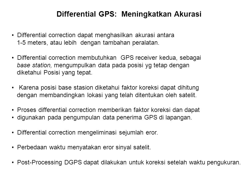 Differential GPS: Meningkatkan Akurasi
