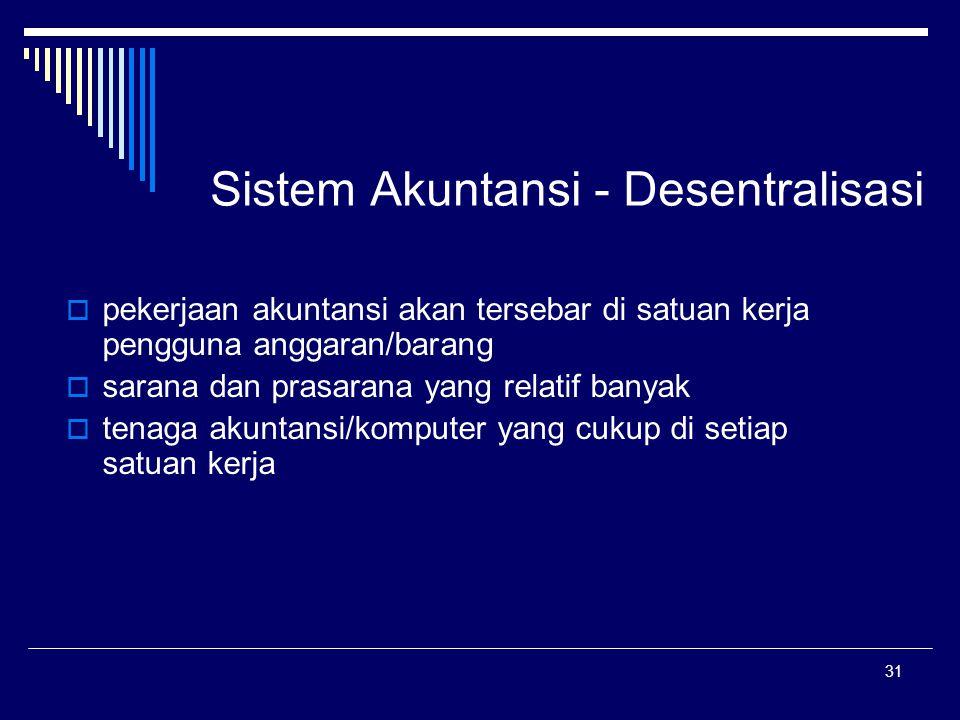 Sistem Akuntansi - Desentralisasi