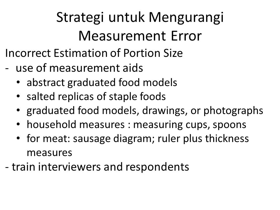 Strategi untuk Mengurangi Measurement Error