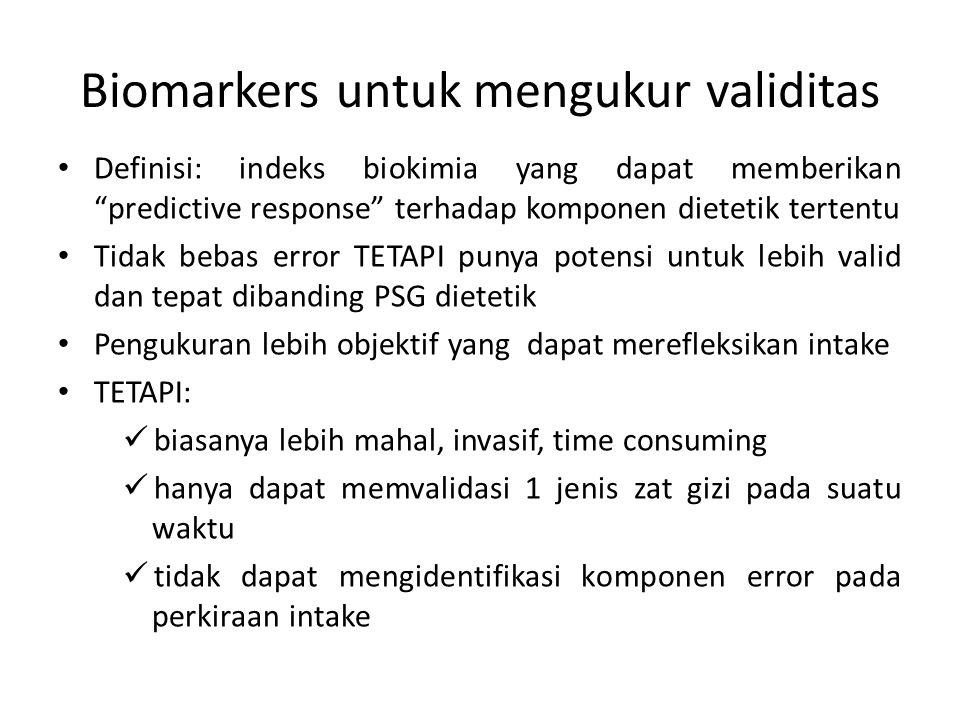 Biomarkers untuk mengukur validitas