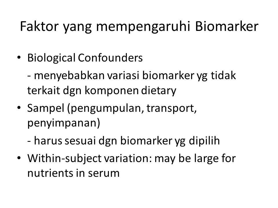 Faktor yang mempengaruhi Biomarker