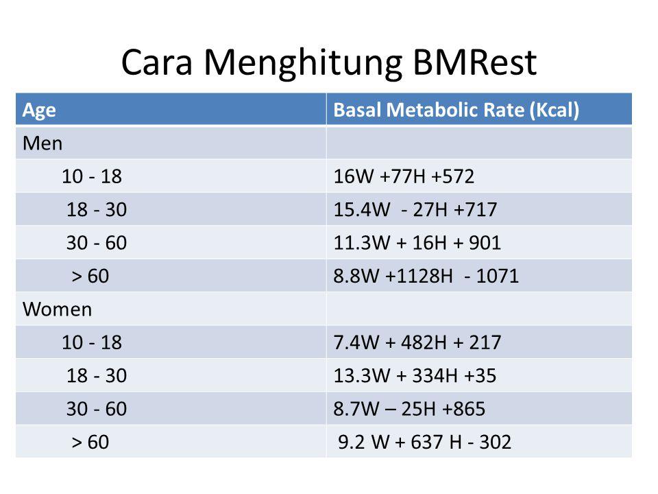 Cara Menghitung BMRest
