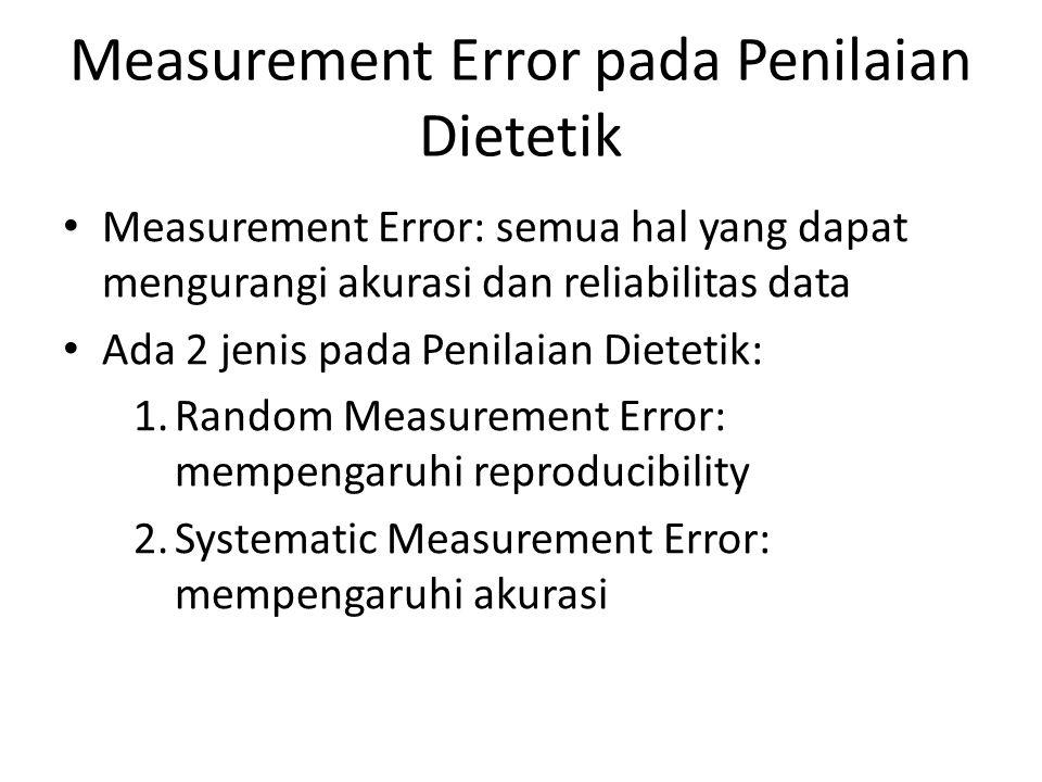 Measurement Error pada Penilaian Dietetik