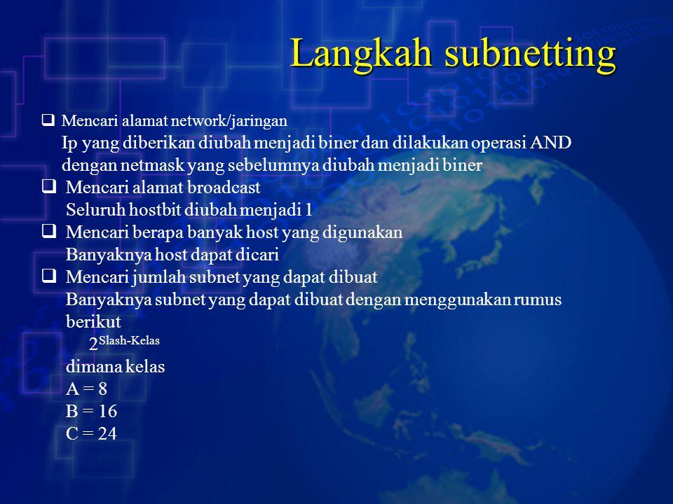 Langkah subnetting