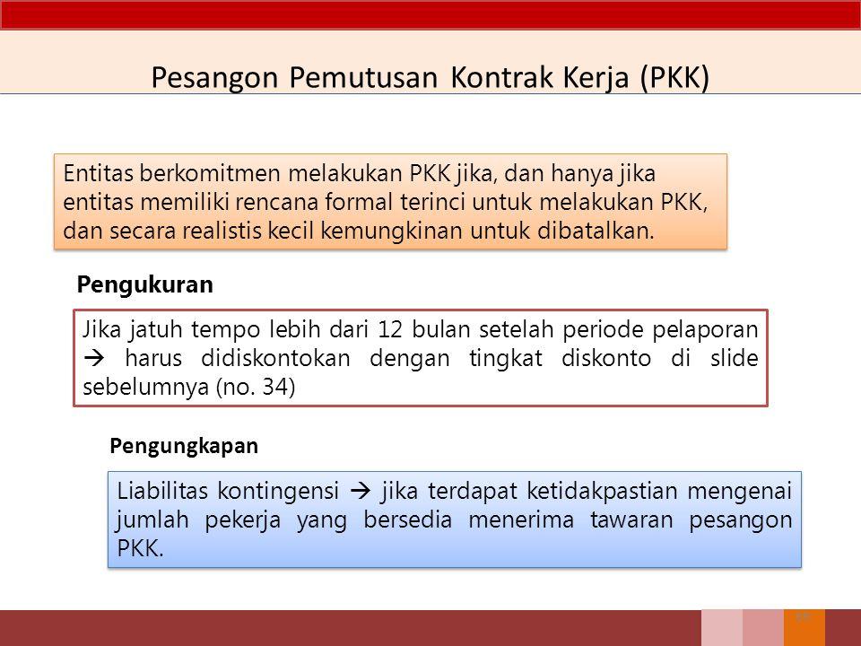 Pesangon Pemutusan Kontrak Kerja (PKK)