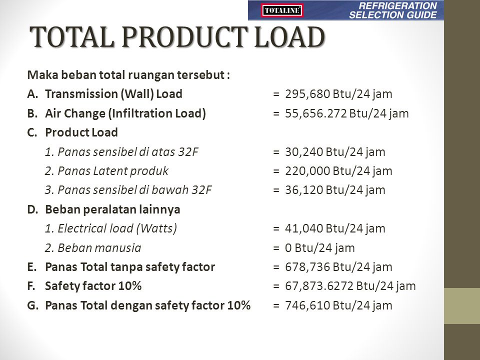 TOTAL PRODUCT LOAD