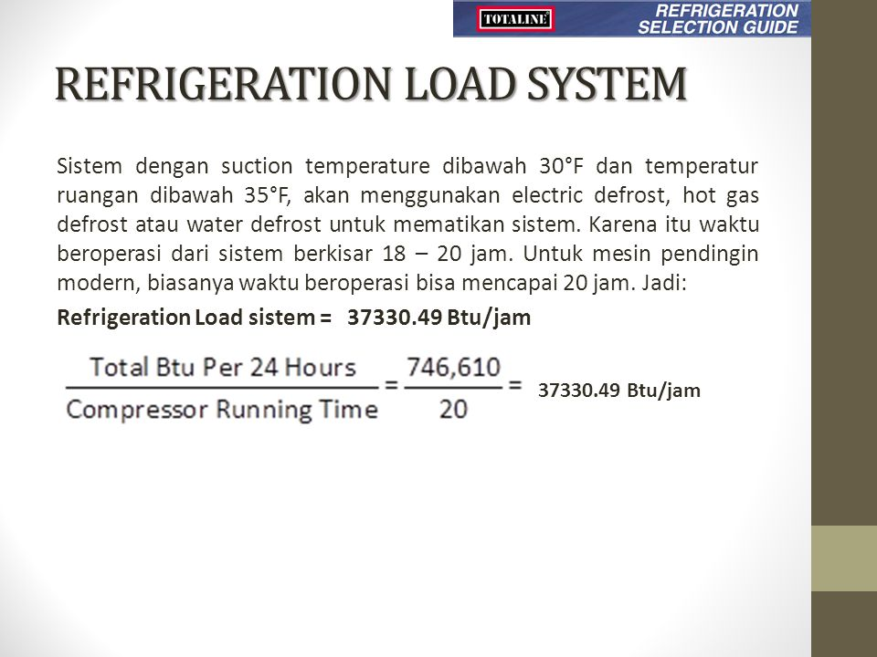REFRIGERATION LOAD SYSTEM