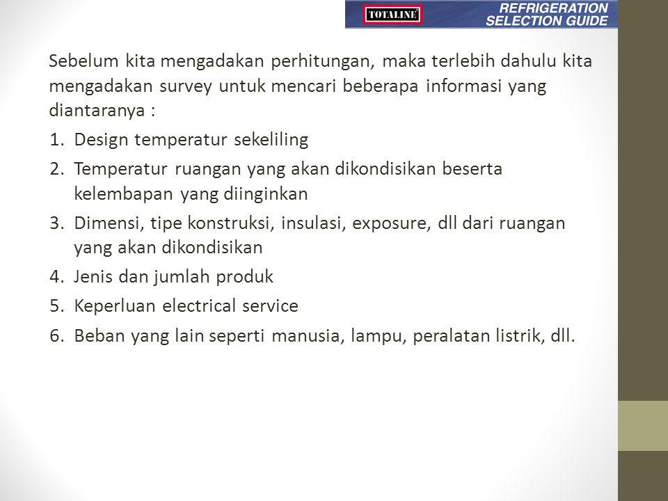 Sebelum kita mengadakan perhitungan, maka terlebih dahulu kita mengadakan survey untuk mencari beberapa informasi yang diantaranya :