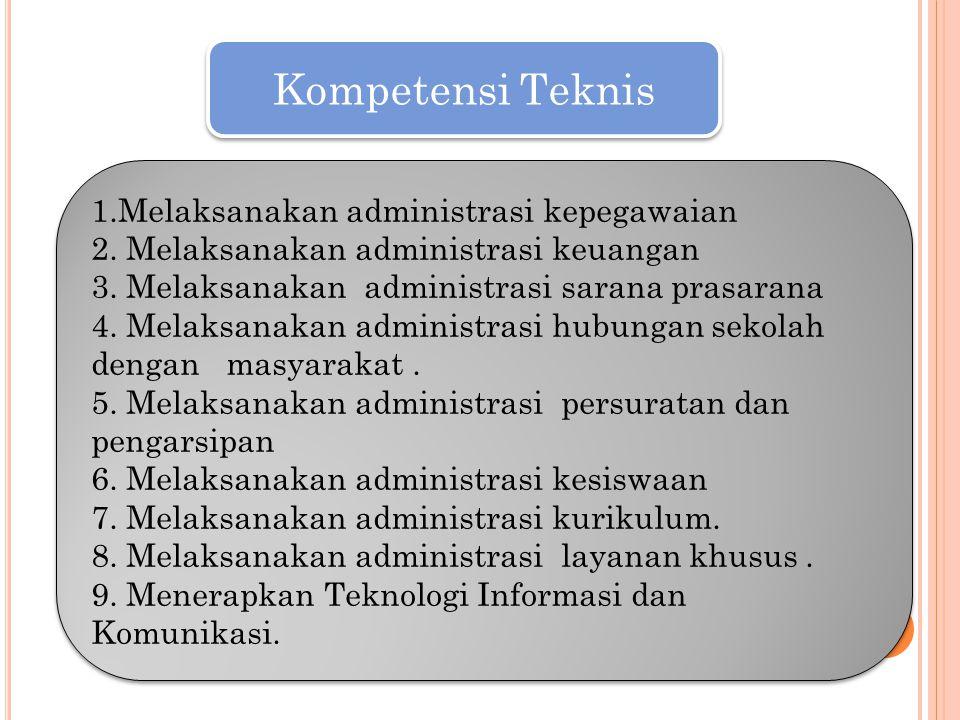 Kompetensi Teknis 1.Melaksanakan administrasi kepegawaian