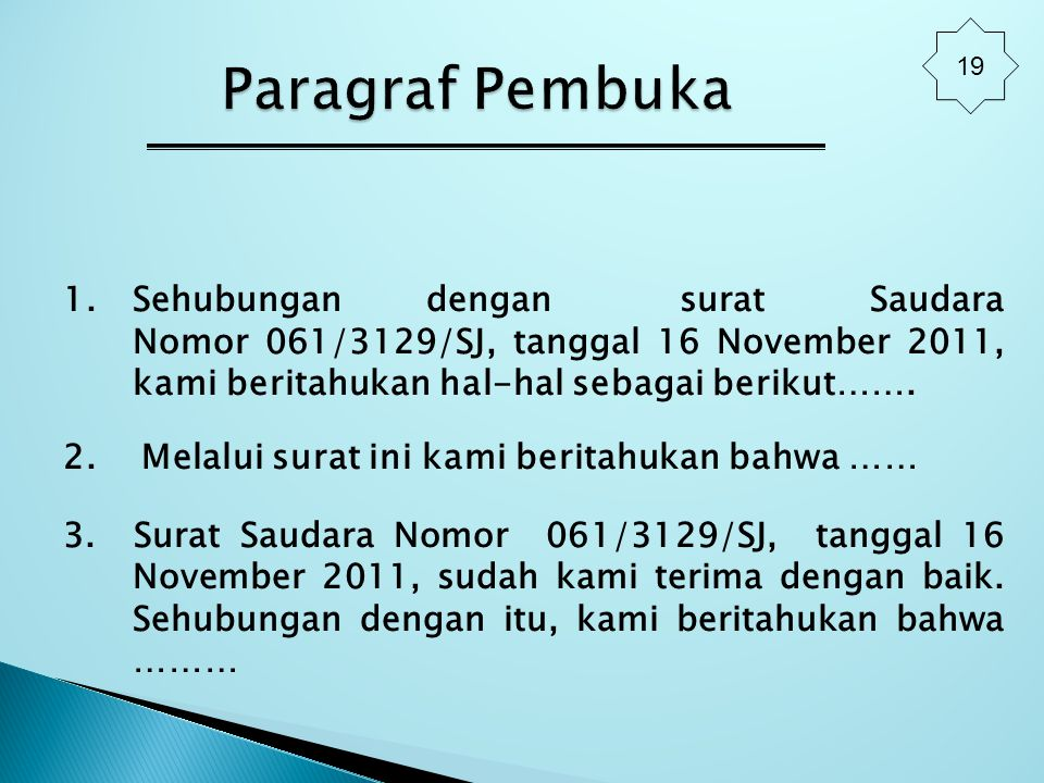 19 Paragraf Pembuka.