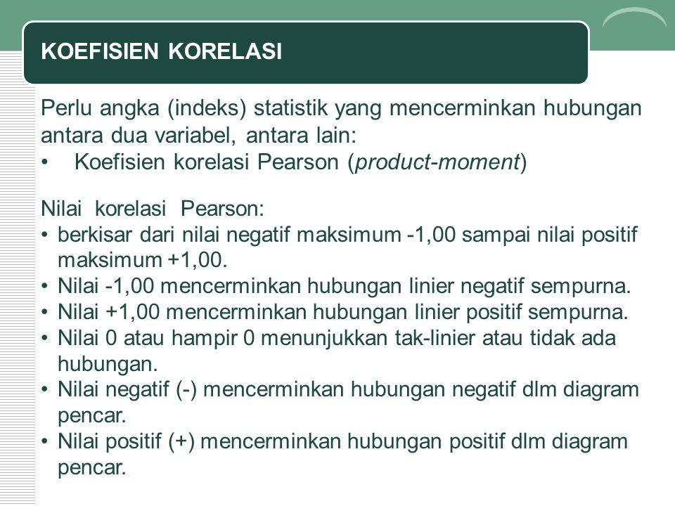Koefisien korelasi Pearson (product-moment)
