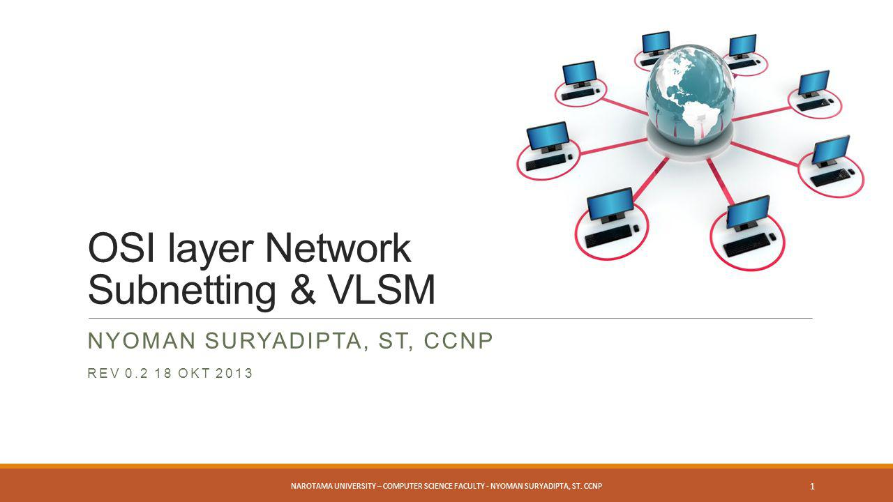 OSI layer Network Subnetting & VLSM