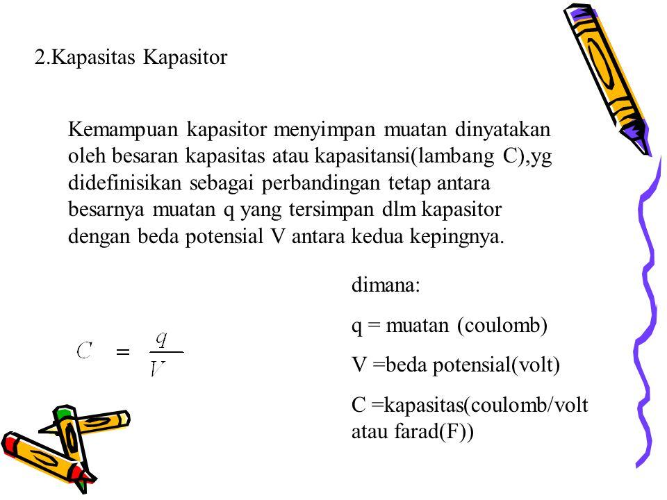 2.Kapasitas Kapasitor