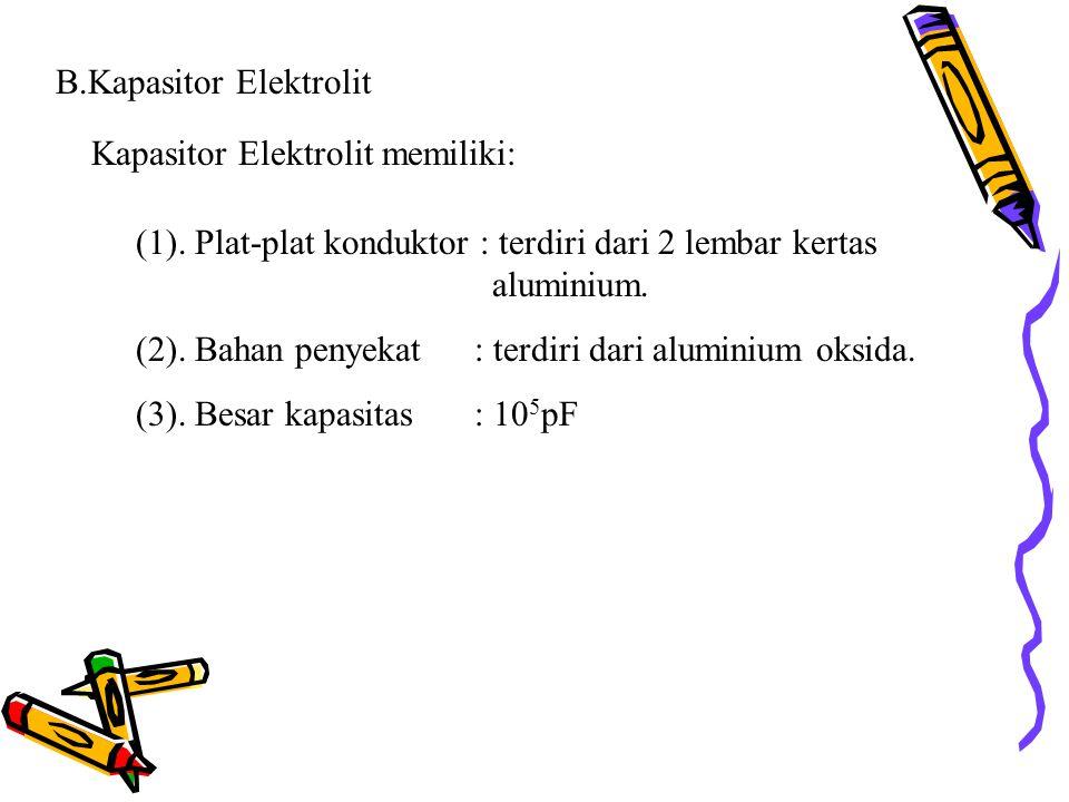 B.Kapasitor Elektrolit