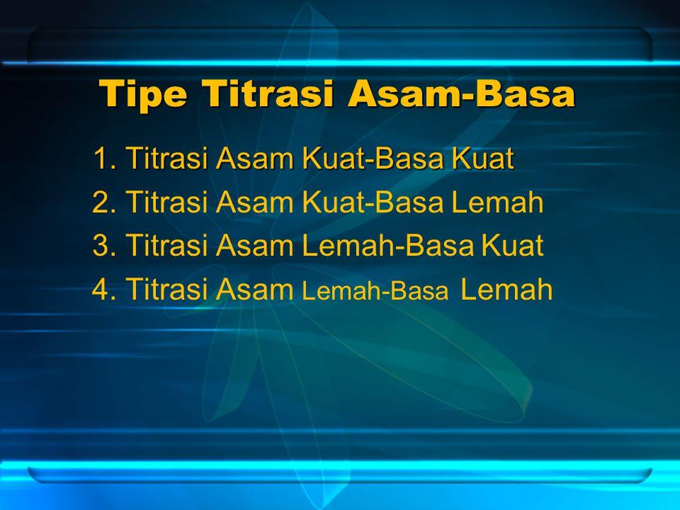 Tipe Titrasi Asam-Basa