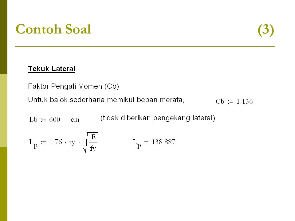 Contoh Soal (3)
