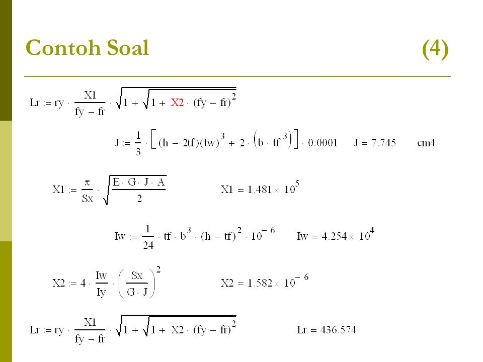 Contoh Soal (4)