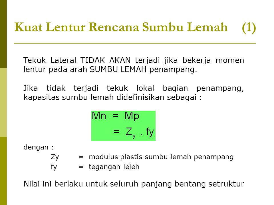 Kuat Lentur Rencana Sumbu Lemah (1)