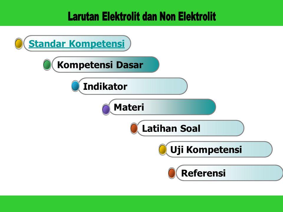 non-elektrolit dan elektrolit,serta reaksi oksidasi-redukasi