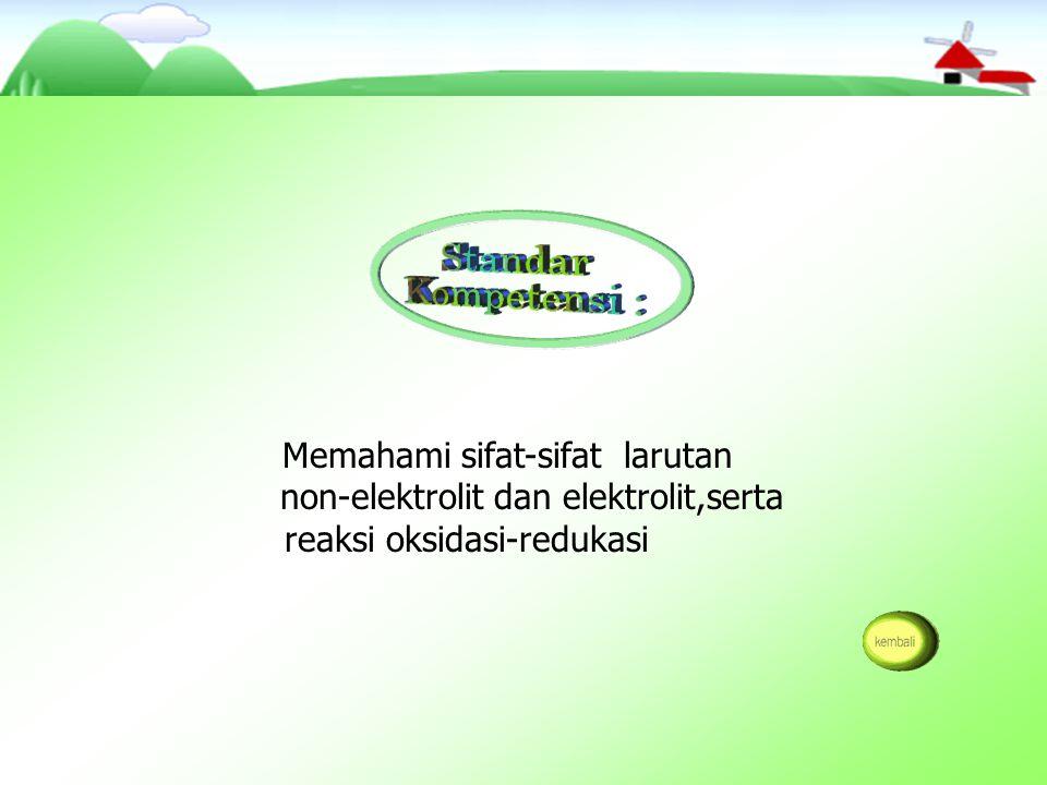 non-elektrolit dan elektrolit berdasarkan data hasil percobaan.