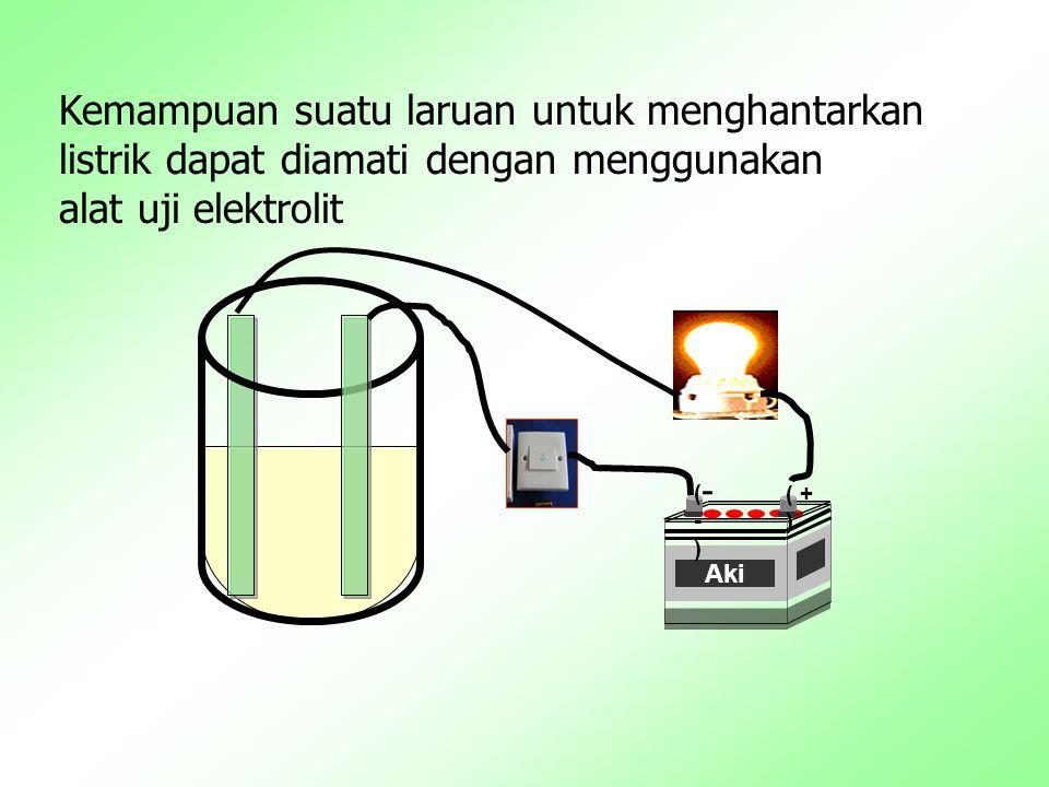 Berdasarkan kekuatan daya hantar listriknya,larutan elektrolit dibedakan atas: