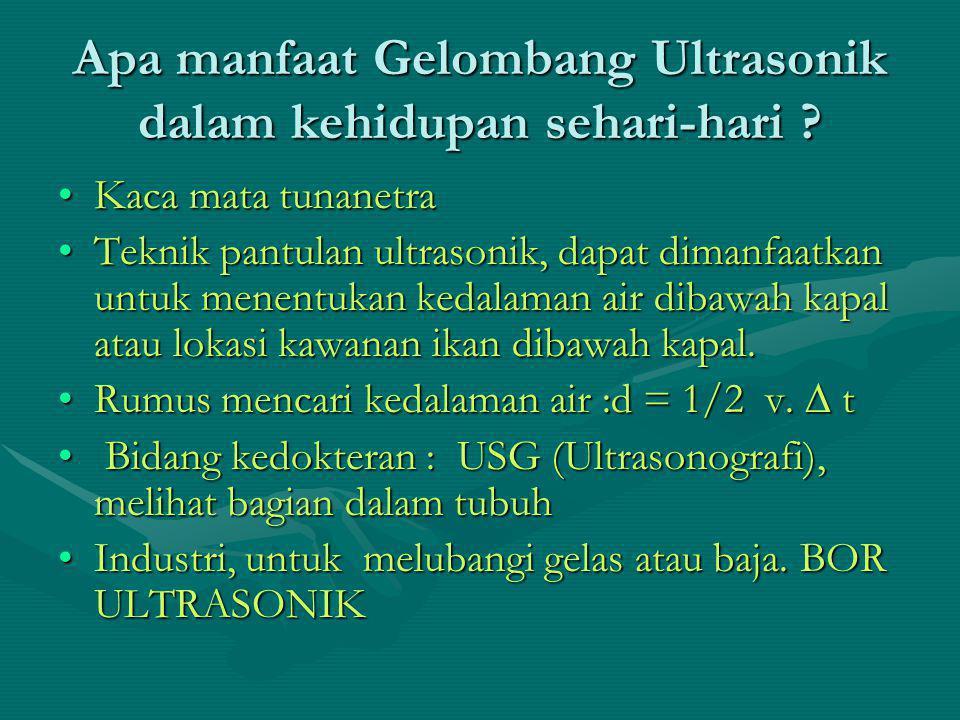 Apa manfaat Gelombang Ultrasonik dalam kehidupan sehari-hari