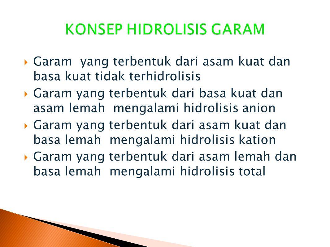 KONSEP HIDROLISIS GARAM