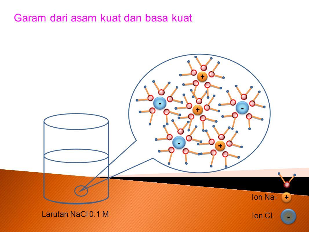 Garam dari asam kuat dan basa kuat
