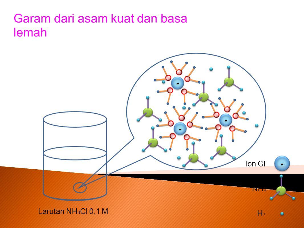 Garam dari asam kuat dan basa lemah
