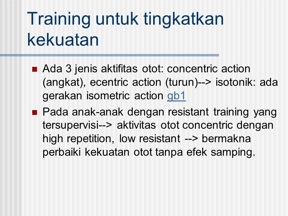 Training untuk tingkatkan kekuatan