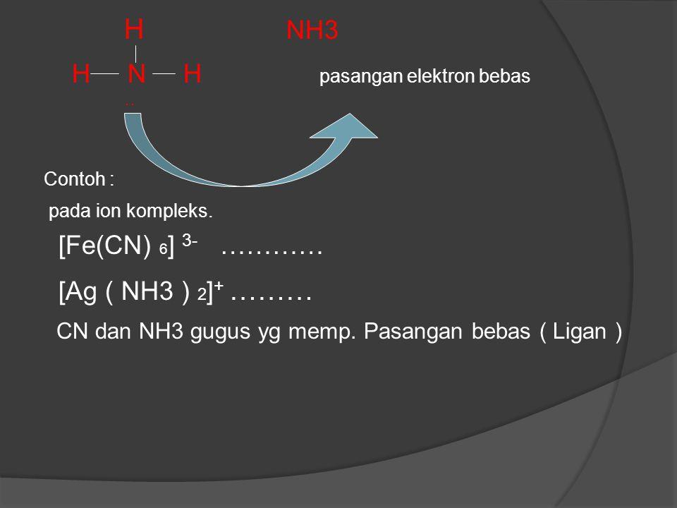 H N H pasangan elektron bebas